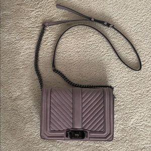 Rebecca Minkoff light purple crossbody bag
